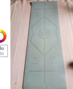 Thảm tập yoga TPE 6mm 1 lớp định tuyến - Màu ghi