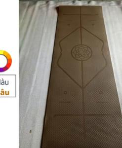 Thảm tập yoga TPE 6mm 1 lớp định tuyến - Màu nâu