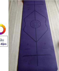 Thảm tập yoga TPE 6mm 1 lớp định tuyến - Màu tím đậm