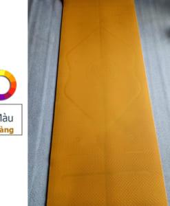 Thảm tập yoga TPE 6mm 1 lớp định tuyến - Màu vàng