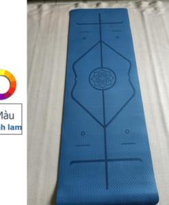 Thảm tập yoga TPE 6mm 1 lớp định tuyến - Màu xanh lam
