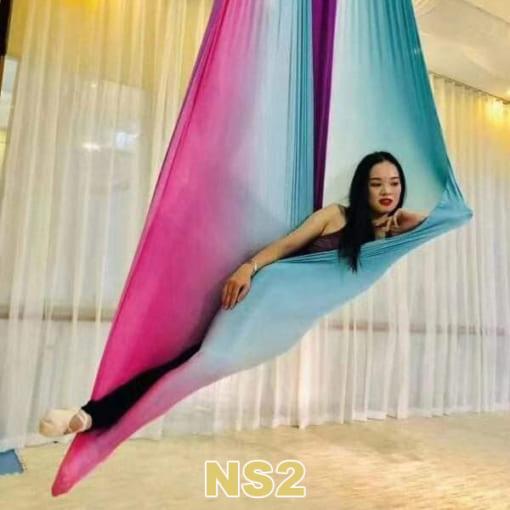 Bộ võng lụa Yoga bay ngũ sắc - NS2