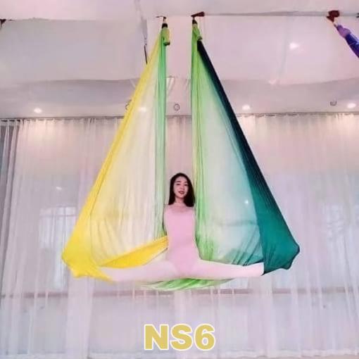 Bộ võng lụa Yoga bay ngũ sắc - NS6