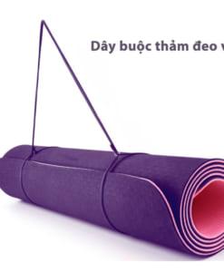 Thảm tập yoga TPE 6mm 2 lớp - Dây buộc thảm