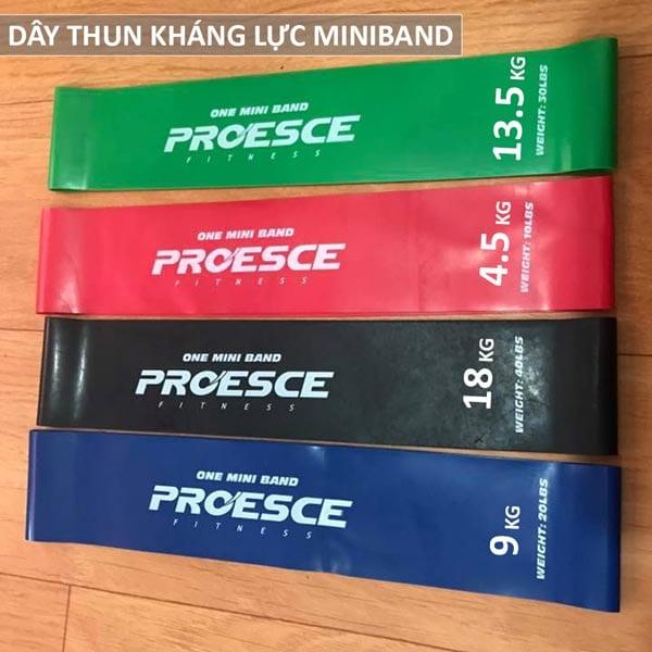 Bộ 4 dây thun kháng lực Miniband