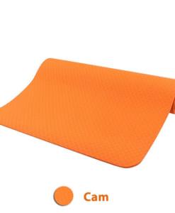 Thảm tập yoga TPE 6mm 1 lớp - Màu cam