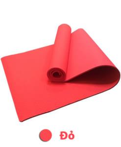 Thảm tập yoga TPE 6mm 1 lớp - Màu đỏ