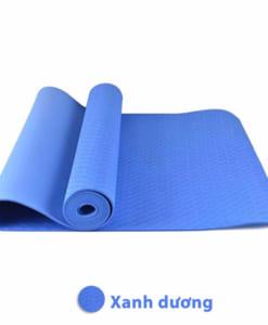 Thảm tập yoga TPE 6mm 1 lớp - Màu xanh dương