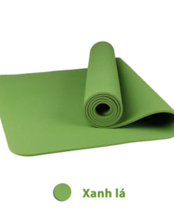 Thảm tập yoga TPE 6mm 1 lớp - Màu xanh lá