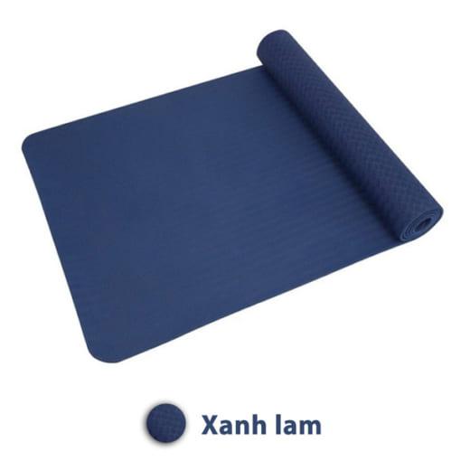 Thảm tập yoga TPE 6mm 1 lớp - Màu xanh lam