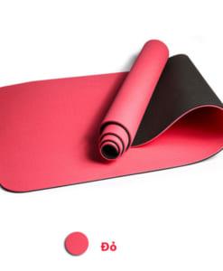 Thảm tập yoga TPE 6mm 2 lớp - Màu đỏ