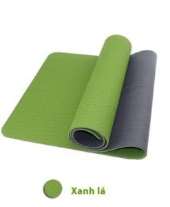 Thảm tập yoga TPE 6mm 2 lớp - Màu xanh lá