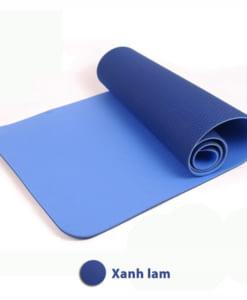 Thảm tập yoga TPE 6mm 2 lớp - Màu xanh lam